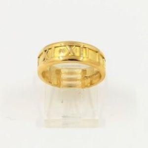 Tiffany & Co. Atlas 18K Yellow Gold 7.38g Ring